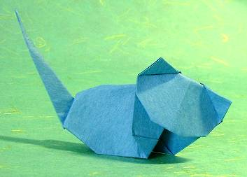 Origami Cat by Steve Biddle folded by Gilad Aharoni