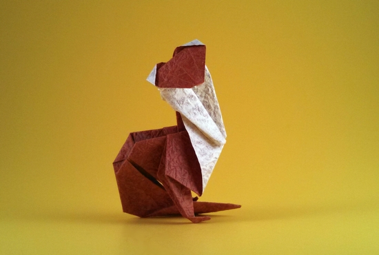 Origami Cat by Patricia Crawford folded by Gilad Aharoni on www.giladorigami.com