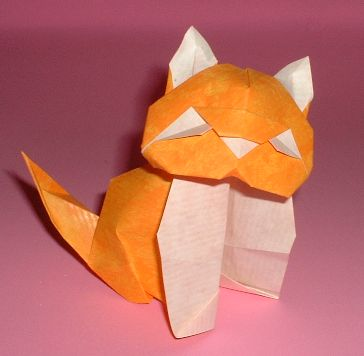 Origami Cat by Alfredo Giunta folded by Gilad Aharoni on www.giladorigami.com