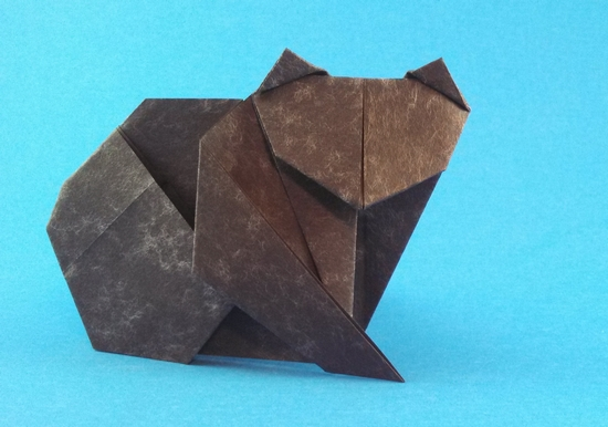 Origami Cat by Paul Jackson folded by Gilad Aharoni