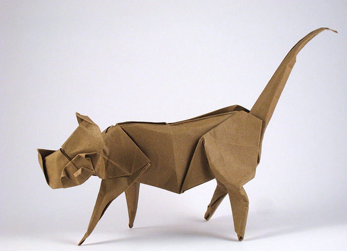 Origami Cat by Eric Joisel folded by Gilad Aharoni on giladorigami.com