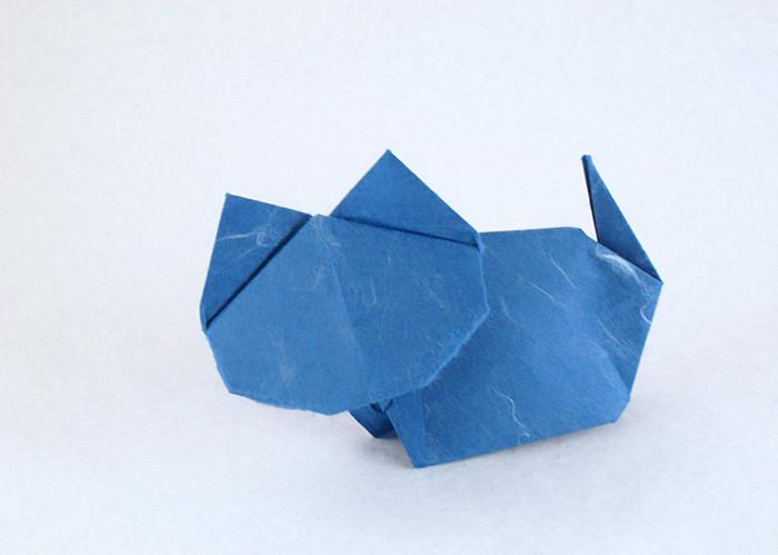 How to Origami a chopstick rest of fishbone « Origami :: WonderHowTo | 303x450