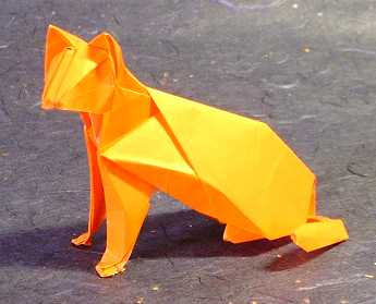 Origami Cat by Hideo Komatsu folded by Gilad Aharoni on giladorigami.com