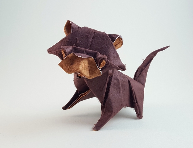 Origami Cat by Sebastien Limet (Sebl) folded by Gilad Aharoni