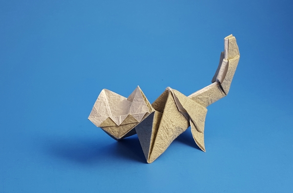 Origami Cat By Angel Morollon Guallar Folded Gilad Aharoni