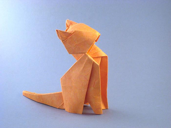 Crease Pattern Origami Cat