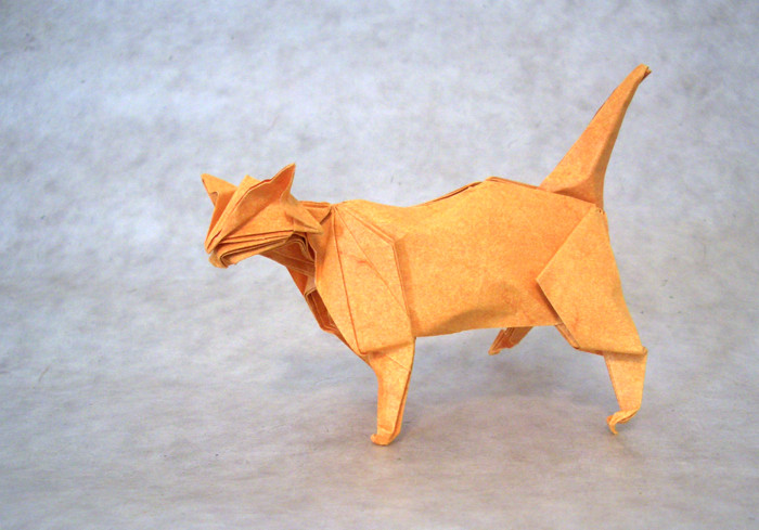 Origami Cat by Tanaka Masashi folded by Gilad Aharoni