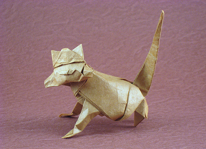Origami Cat by Nicolas Terry folded by Gilad Aharoni on giladorigami.com