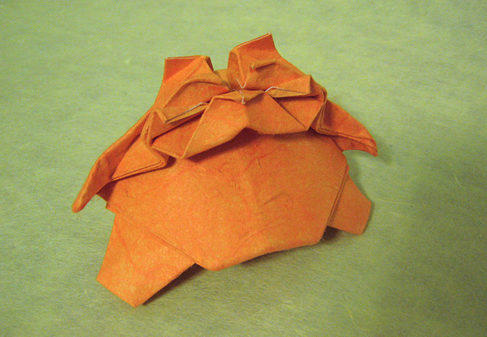 Origami Cat - tubby by Yoshihisha Kimura Folded from a square of duo-mulberry paper by Gilad Aharoni on giladorigami.com