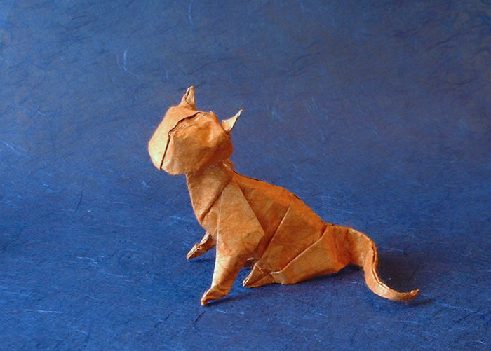 Origami Cat by Jose Anibal Voyer folded by Gilad Aharoni on giladorigami.com