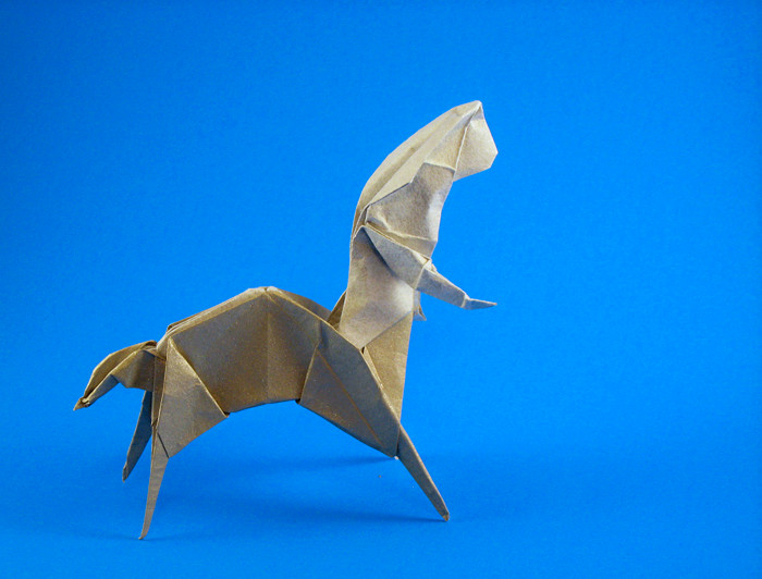 Origami Centaur by Neal Elias folded by Gilad Aharoni on www.giladorigami.com