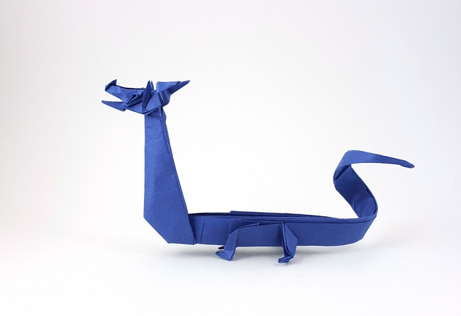 51 Square Origami Chinese Dragon By John Montroll Folded From A Of Hanji Paper Gilad Aharoni