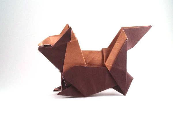 Origami Chipmunk by Andrew Hudson folded by Gilad Aharoni