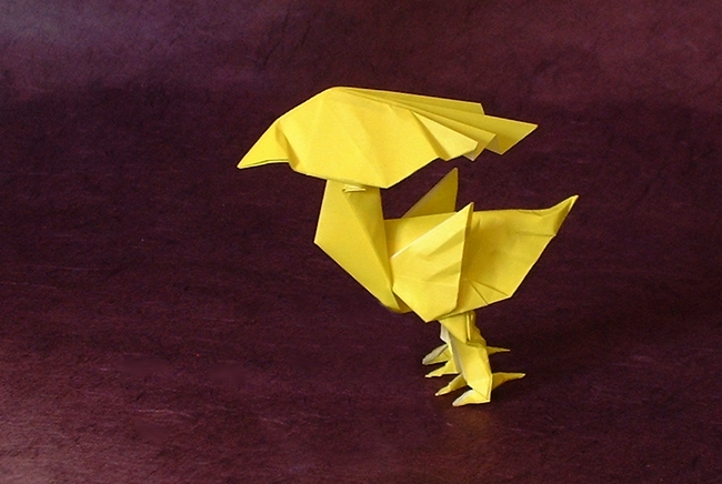 Origami The Yellow Bird By Satoshi Kamiya Folded From A Square Of Paper Gilad