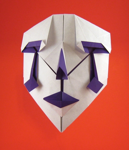 Origami Clown Mask 2 By Hideo Komatsu Folded From A Square Of Paper Gilad