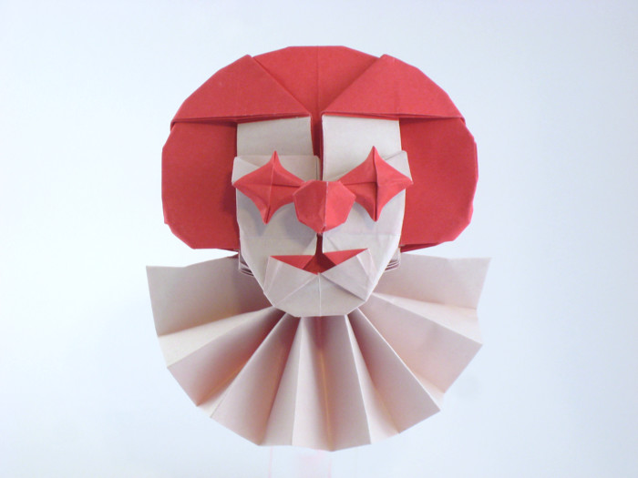 Quentin Trollip 21 Square Origami Clown By Folded From A Of Paper Gilad Aharoni On