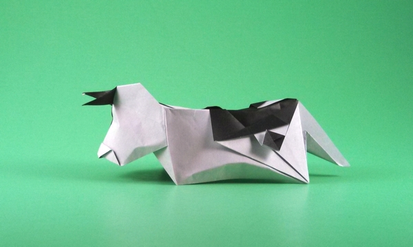 Origami Cow by Yannick Gardin folded by Gilad Aharoni on giladorigami.com