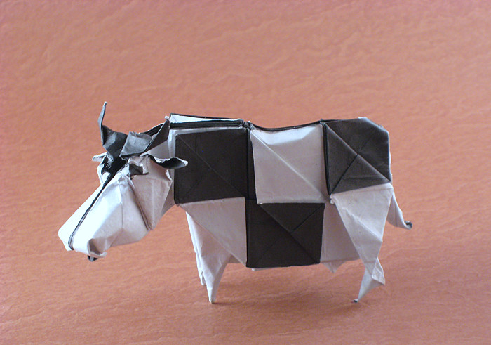 Origami Mad Cow By Fernando Gilgado Gomez Folded Gilad Aharoni On Giladorigami