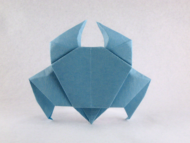 Origami Crab (3 variations) by Akira Yoshizawa folded by Gilad Aharoni on giladorigami.com