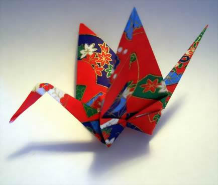 Origami Crane by Traditional folded by Gilad Aharoni on giladorigami.com