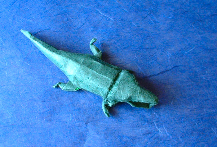 Origami Crocodile by Lionel Albertino folded by Gilad Aharoni
