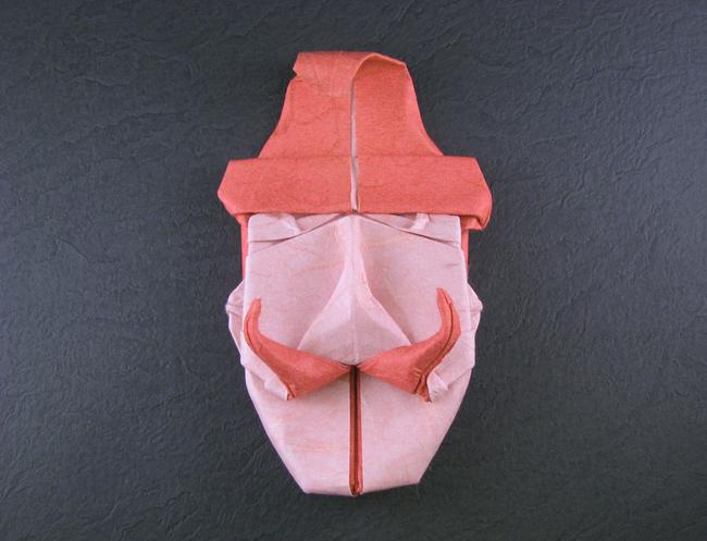 Make origami a croaking frog Royalty Free Vector Image   497x650