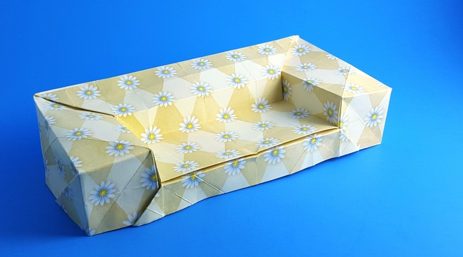 Origami Deep-cushioned sofa by Mark Bolitho folded by Gilad Aharoni