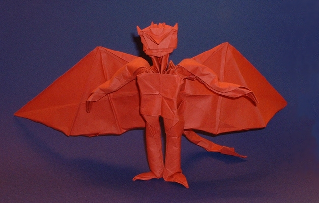 Origami Demon by Fernando Gilgado Gomez folded by Gilad Aharoni on www.giladorigami.com