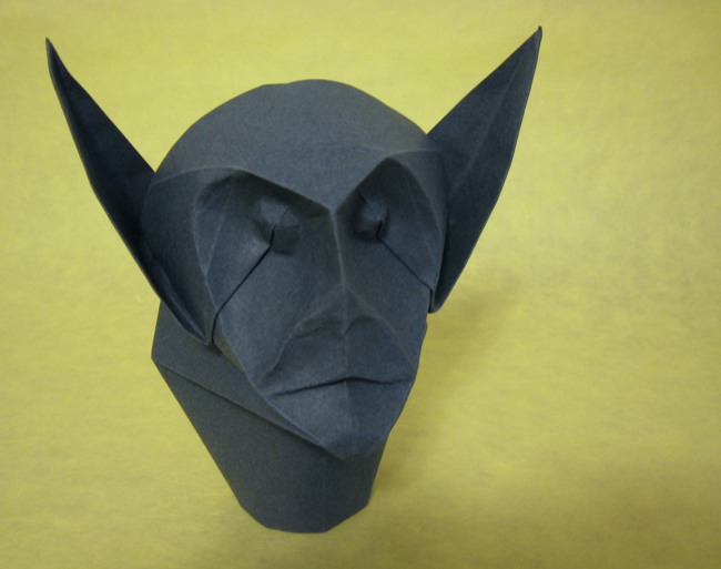 42 Square Origami Demon Mask By Eric Joisel Folded Gilad Aharoni On Giladorigami