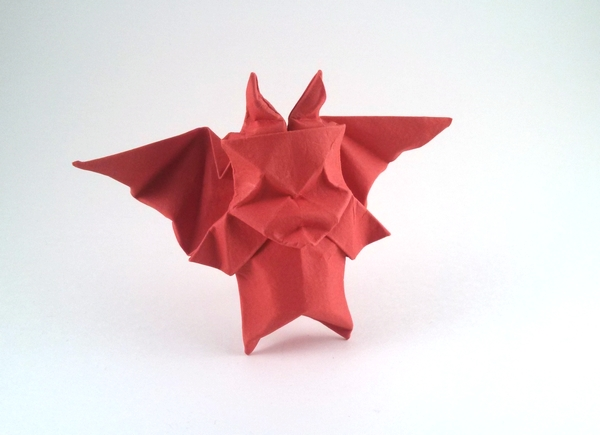 Origami Little devil by Paul Frasco Wet folded from a square of Canson art paper by Gilad Aharoni on giladorigami.com