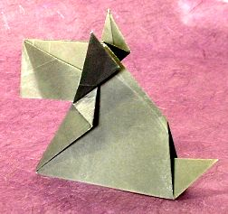 Origami Scottie (doggie whose name is Mac) by Jun Maekawa Folded from a square of origami paper by Gilad Aharoni on www.giladorigami.com