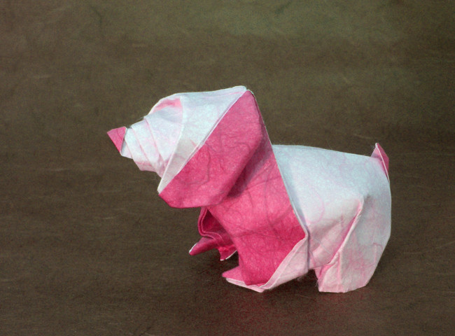 Origami Puppy by Nicolas Terry folded by Gilad Aharoni