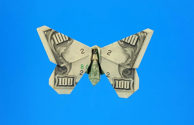Money Origami Butterfly : 14 Steps (with Pictures) - Instructables | 419x650
