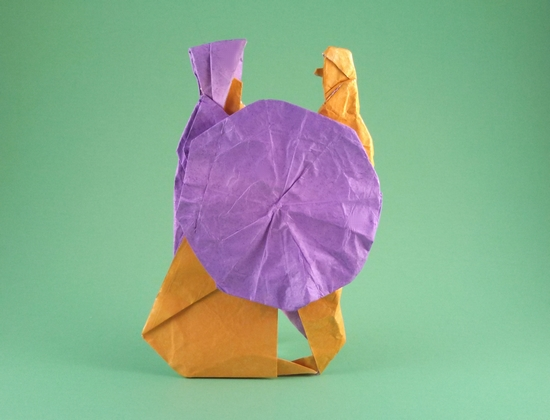 Origami Dutch people (Double Dutch) by Noel Stanton folded by Gilad Aharoni