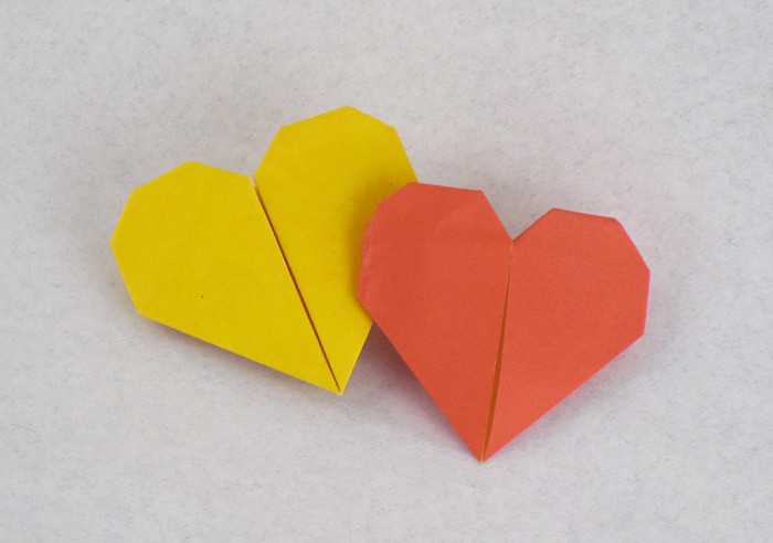 Origami Double hearts by Francis Ow folded by Gilad Aharoni on giladorigami.com
