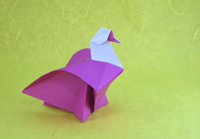 Origami Dove by Roman Diaz folded by Gilad Aharoni