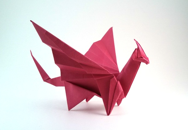 Origami Of Chinese Dragon
