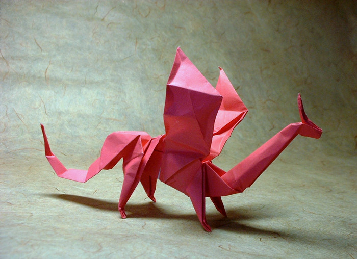 Origami Dragon by Christophe Boudias folded by Gilad Aharoni