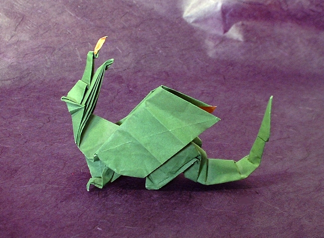 Origami Dragon by David Brill folded by Gilad Aharoni on giladorigami.com