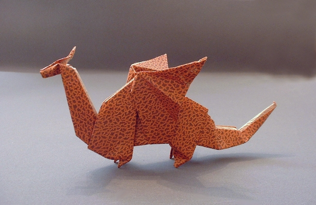 Origami Dragon 2 By Edwin Corrie Folded Gilad Aharoni