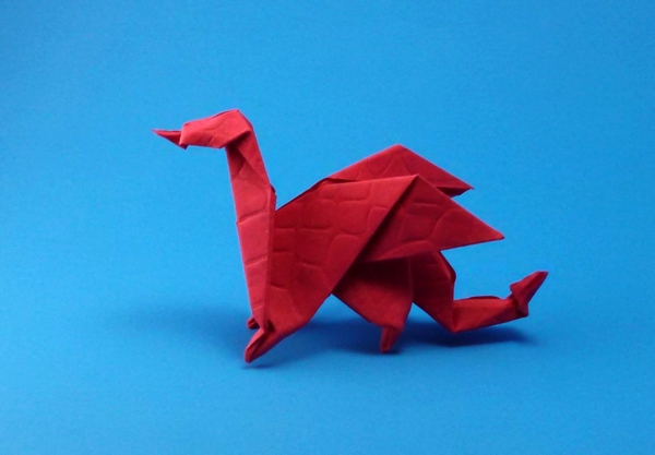 Origami Dragon by Edwin Corrie folded by Gilad Aharoni