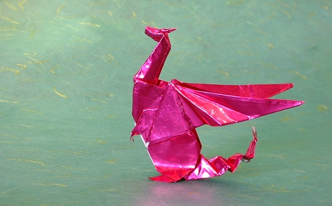 origami dragon diagram