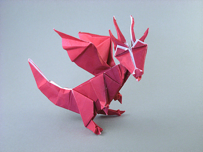 Origami Dragon by Fernando Gilgado Gomez Folded from a square of origami paper by Gilad Aharoni on giladorigami.com