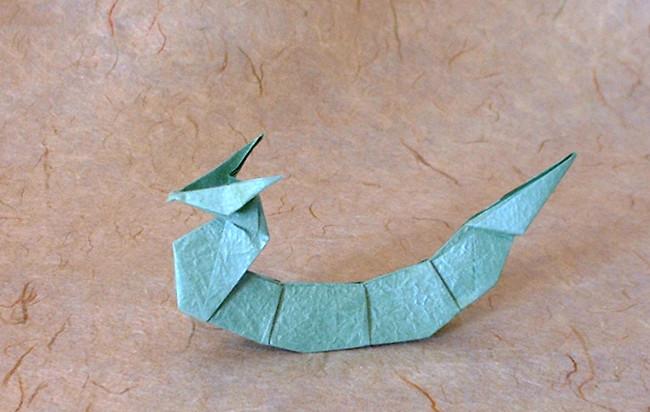 3D origami Dragon kid tutorial - Destiny's Child | 265x400