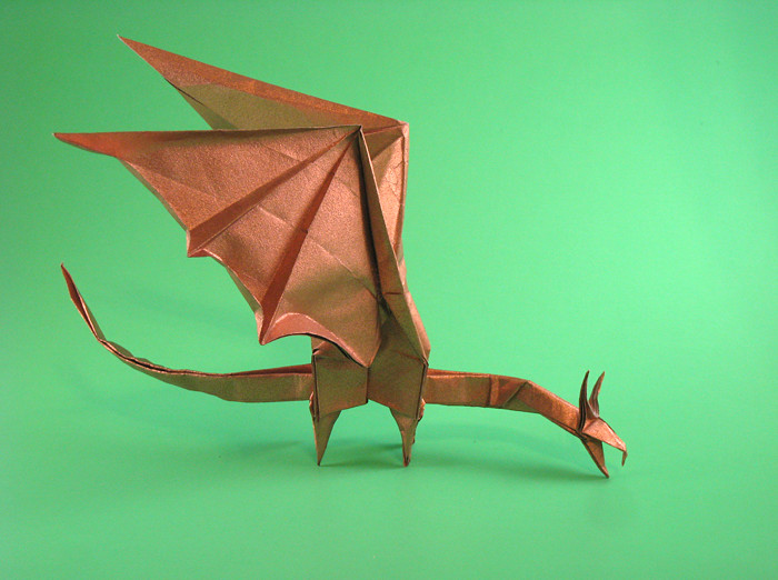 Origami Dragon by Shuki Kato folded by Gilad Aharoni