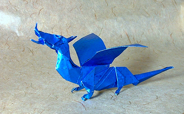 Origami Dragon by Fumiaki Kawahata folded by Gilad Aharoni