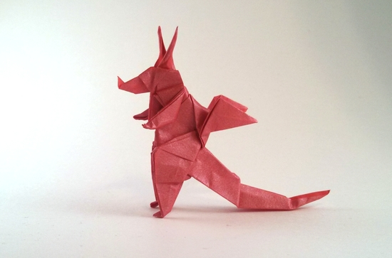 Origami Dragon by Eran Leiserowitz folded by Gilad Aharoni
