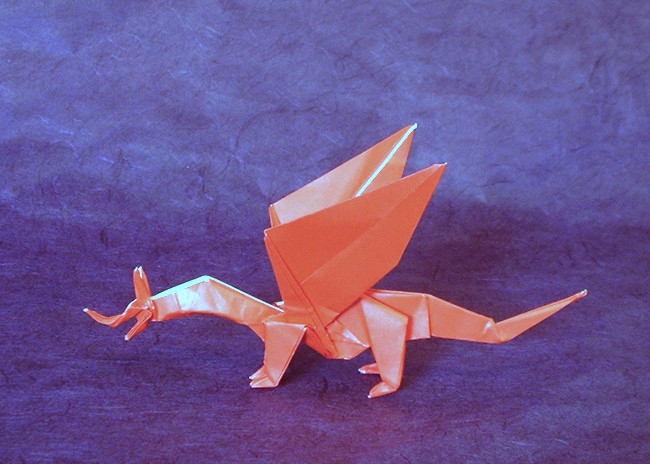 Origami Tri-horned dragon by Miyamoto Chuya folded by Gilad Aharoni on giladorigami.com