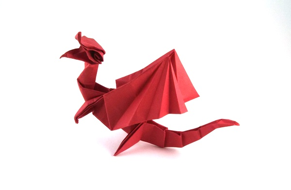 Origami Dragon by Marc Kirschenbaum folded by Gilad Aharoni on giladorigami.com