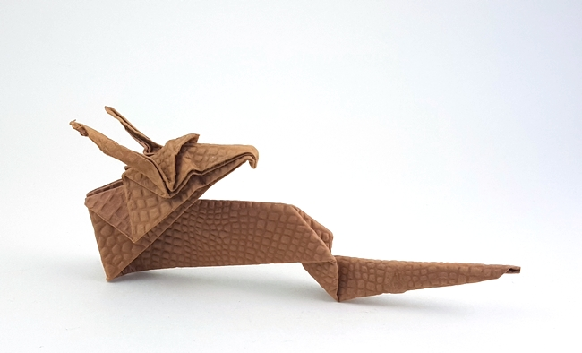 How make origami 3-Heads Dragon | How To Make Origami Dragon | 394x650